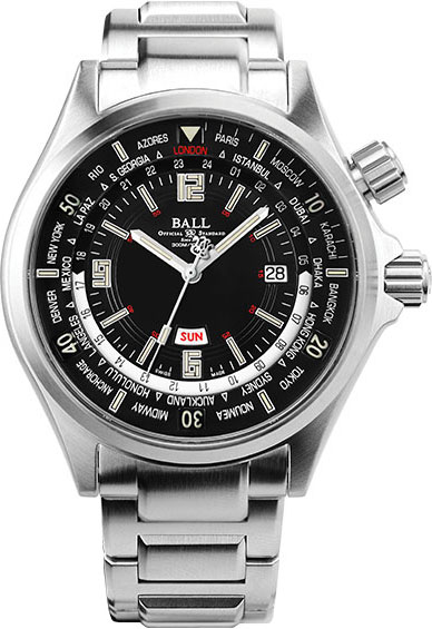 BALL DIVER WORLDTIME LIMITED EDITION DG2022A-S4A-BK